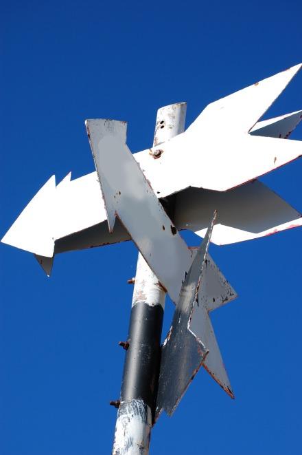 Arrow-signs-on-a-pole1838